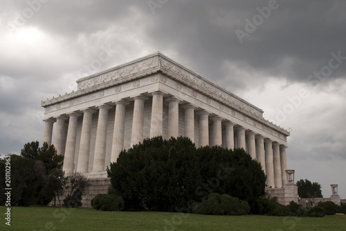 Lincoln Memorial in stormy weather, Washington DC