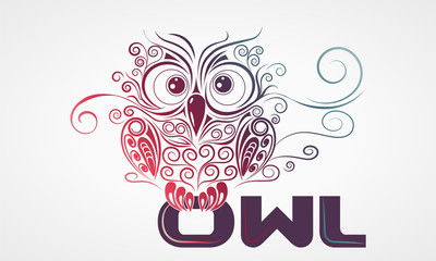 Owl with letters