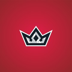 crown king sport esport gaming logo vector download