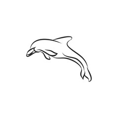 The logo is a Dolphin jumping out of the water
