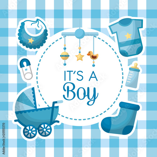 Happy Baby Shower Baby Crib Mobile With Star Rattle Duck Clothes