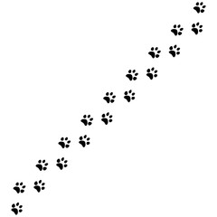 Paw print vector illustration
