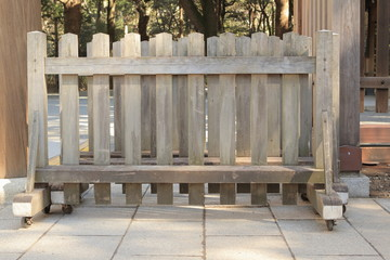 Japanese traditional wooden barricade, Japan