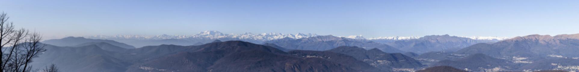 Panoramic view from Monte San Giorgio
