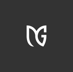 Fototapeta MG logo icon for Flower obraz