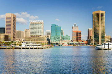 Downtown Baltimore on a Sunny Fall Day