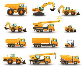 Construction machinery set