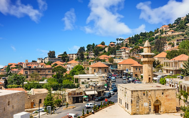 Fototapete - Deir El Qamar in mount Lebanon Middle east