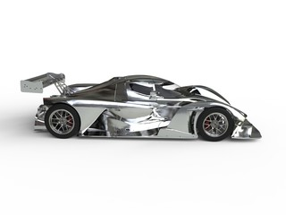 Chromium plated modern super race car