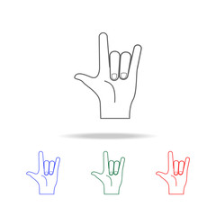 hand sign rock icon. Elements of hands multi colored icons. Premium quality graphic design icon. Simple icon for websites, web design; mobile app, info graphics