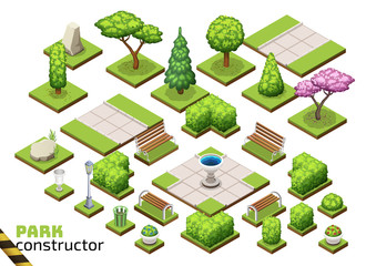 Isometric park constructor.