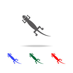 Mexican lizard icon. Elements of culture of Mexico multi colored icons. Premium quality graphic design icon. Simple icon for websites, web design, mobile app, info graphics