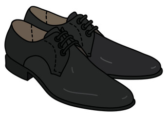 The black mens shoes