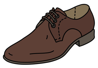 The brown leather mens shoe