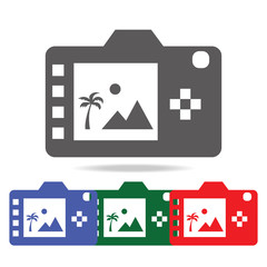 Digital photo camera back display icon. Elements of photo camera in multi colored icons. Premium quality graphic design icon. Simple icon for websites, web design, mobile app