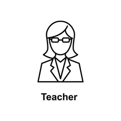teacher icon. Element of school icon for mobile concept and web apps. Thin line icon for website design and development, app development. Premium icon