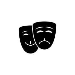 mask of happiness and sorrow icon. Element of theater and art illustration. Premium quality graphic design icon. Signs and symbols collection icon for websites, web design