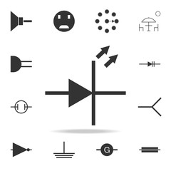 Electronic circuit symbol icon. Detailed set of web icons. Premium quality graphic design. One of the collection icons for websites, web design, mobile app