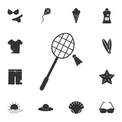 racket and valance for badminton icon. Detailed set of Summer illustrations. Premium quality graphic design icon. One of the collection icons for websites, web design, mobile app