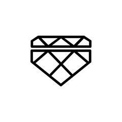 diamond icon. Element of minimalistic icons for mobile concept and web apps. Thin line icon for website design and development, app development