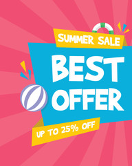 Summer sale marketing banner party