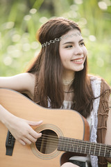 Young asian musician