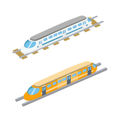 Trains Vector Illustration