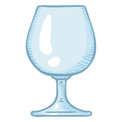 Vector Cartoon Illustration - Empty Cognac Glass