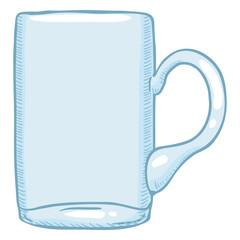 Vector Single Cartoon Illustration - Empty Beer Glass Tankard