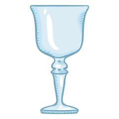 Vector Single Cartoon Illustration - Empty Liquor Goblet Glass
