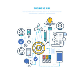 Business aim. Setting goals and their achievement, business planning, strategy.
