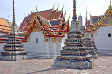 Spoed Foto op Canvas Monument Thailand. Bangkok. Buddhist temples and monuments