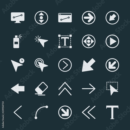 Modern Simple Set of arrows, cursors, design Vector fill Icons