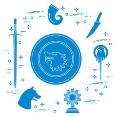 Symbols of the fantasy television series.