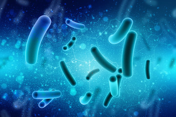 3d illustration close up of  microscopic  bacteria