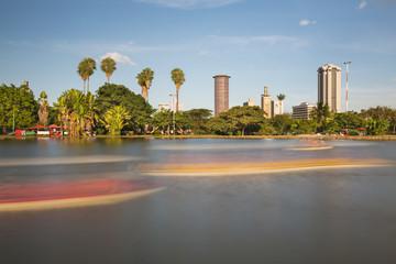 Wall Mural - Uhuru Park And Nairobi Skyline, Kenya