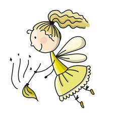 Cute little fairy, sketch for your design