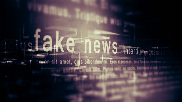 Fake news background