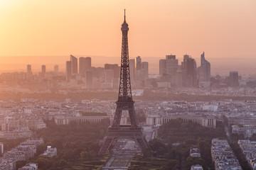 Photo sur Toile Europe Centrale Paris Eiffel Tower Sunset