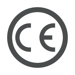 Icono plano Conformidad Europea en circulo color gris