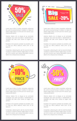 Big Sale -20 and -10 Off Vector Illustration
