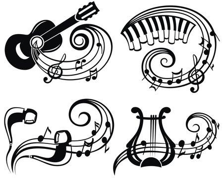 Music symbol vector illustration for your design