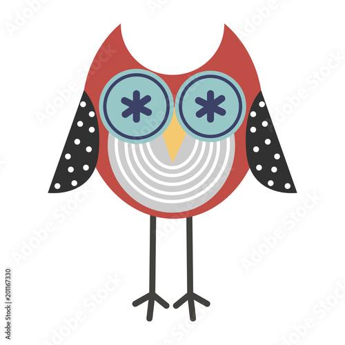 Owl Vector Icon Colorful Owl Icon For Print Cute Owl Logo Cartoon