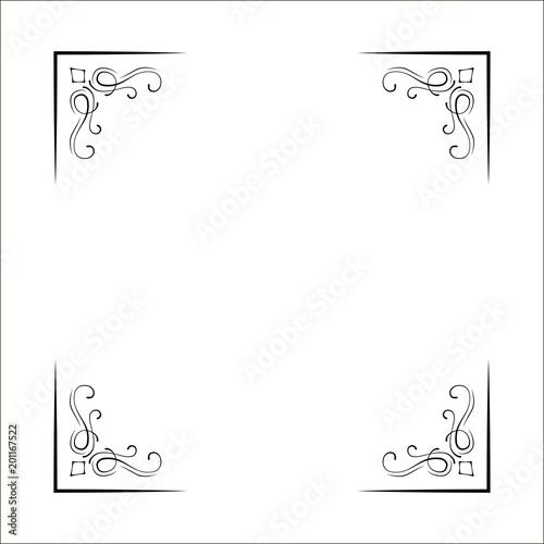 Decorative Corners Swirls Ornate Frame Page Decoration Wedding