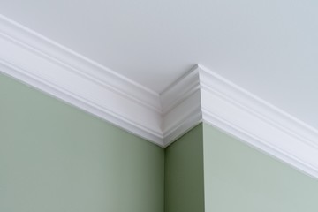 Ceiling moldings in the interior, intricate corner Wall mural