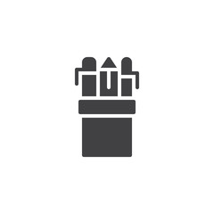 Pencil case vector icon. filled flat sign for mobile concept and web design. Drawing Tools simple solid icon. Symbol, logo illustration. Pixel perfect vector graphics