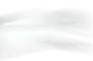 白のネットワークテクノロジー抽象背景素材