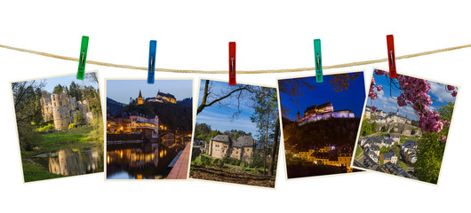 Luxembourg travel images (my photos) on clothespins