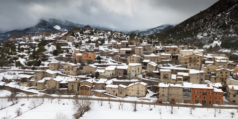 Image of Gosol village in the north of Catalonia in high