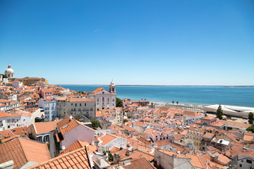 Portugal, Lisbon, Panorama of Old Town
